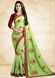 Pistachio Green Silk Saree