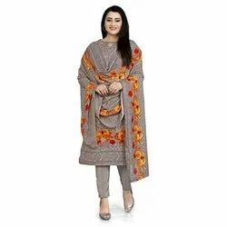 Rajnandini Grey Cotton Printed Unstitched Dress Material