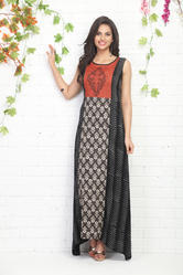 ASYMMETRICAL PRINTED COTTON KURTI