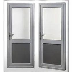 Silver Aluminium Aluminum Bathroom Door, Type Of Door:  Single