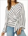 Women's Western Wrap Top Full sleeve
