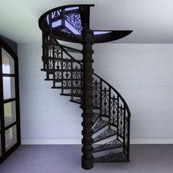 Iron Cast Spiral Staircase