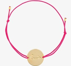 Pink Colour Threaded Adjustable gold Plated Charm Fashionable Bracelet