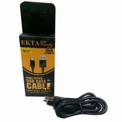 Ekta Black Cell Phone USB Data Cable