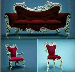 Modern Rectangular Teak Wood Designers Sofa for Home