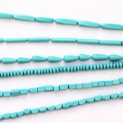 Synthetic Feroza Faceted Turquise Beads (Synthetic)