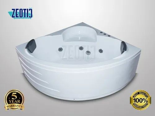 Corner Cera Jacuzzi Massage Bubble Bath Bathtub