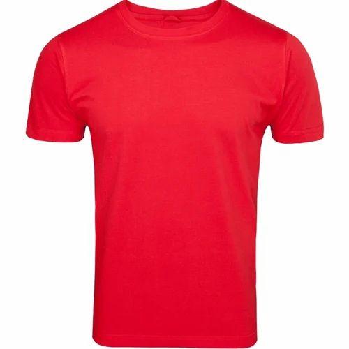 Red Plain Mens T Shirt, Size: Small, Medium,