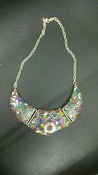 Brass Stone Work Necklace