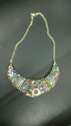 Multicolor SNG Brass Stone Work Necklace