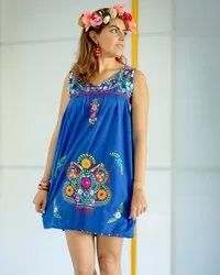 Mexican Embroidery Mini Dress