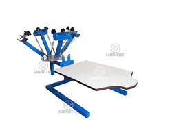 Hosiery And Polyester 4 Color Single Station T-Shirt Printing Machine