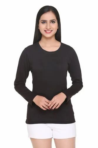73fc56e60d2 Full Sleeve t shirts - Solid Round Neck T-Shirt for Men Manufacturer from  Ludhiana