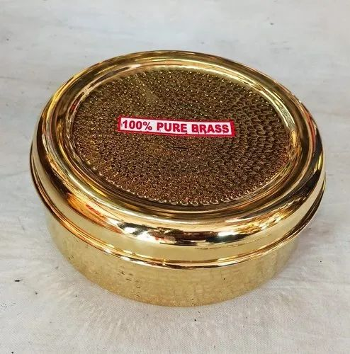 SNG Brown Brass Spice Box, For Kitchen