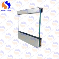 Panel Balcony Steel well aluminium railing, for Hotel