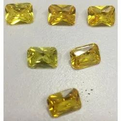 Yellow Cubic Zirconia Gemstone
