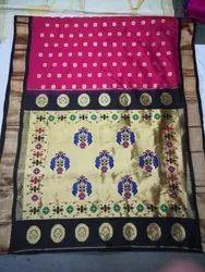 Silk Casual Paithani Sarees, Length: 6.3 m With Blouse Piece