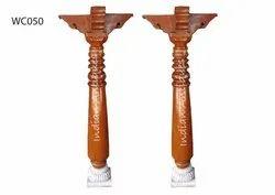 Antique Wooden Pillar Of 5 Feet Height