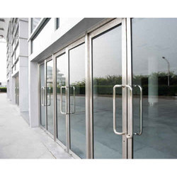 Casement Toughened Glass Door, For Office,Hotel, Thickness: 8-20 Mm