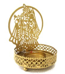 Metal Gold Krishnan Shadow Diya