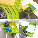 Plastic Kitchen Corner Shelf with Tray Holder Kitchen Organizer -Washing soap triangle