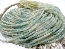Shaded Amazonite  Round Faceted Beads