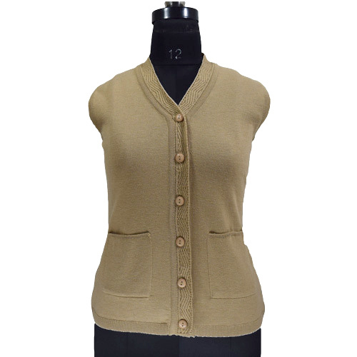 818c0cf05196d8 Available In Many Colors. V-Neck Ladies Sleeveless Cardigan