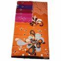 Orange Printed Nighty Cotton Fabric