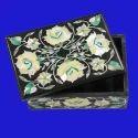 Soapstone Pietra Dura Box  Art