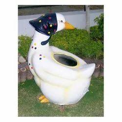 Eye Catching White Duckling- Dustbin
