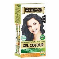 Indus Valley Organic Dark Brown 3.00 Gel Hair Color