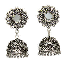 Oxidized Metal Jhumki