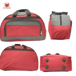 Polyester Red Travel bags, Size/Dimension: 16.5 X 12
