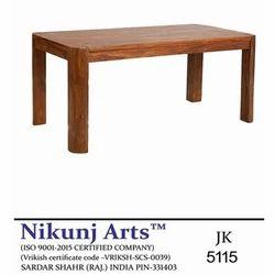 Nikunj Arts Brown Solid Wood Dining Table