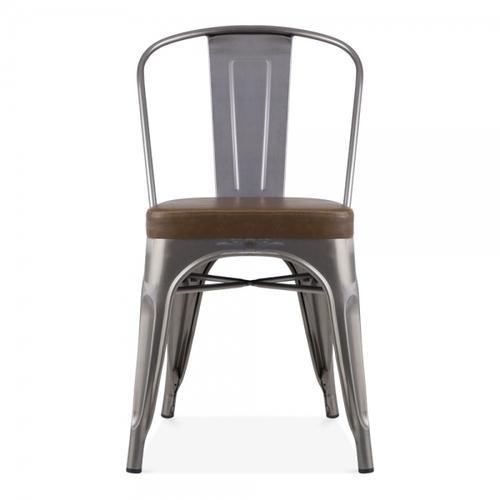 Metal Industrial Cafe Chair, Weight: 8 kg