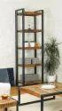 Vintage Industrial Bookself, Reclaimed Wooden Bookself
