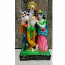 Multicolor Radha Krishna Statue