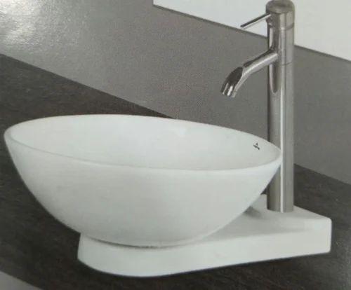Ceramic White Round Shape Wash Basin