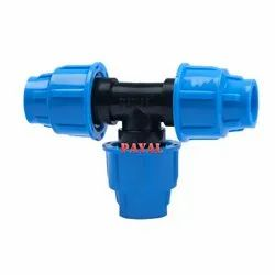 HDPE Fitting Tee without Welding, Size : 2