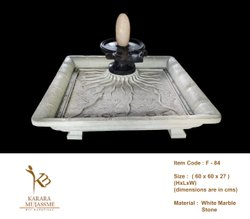 White Marble Shivling Fountain