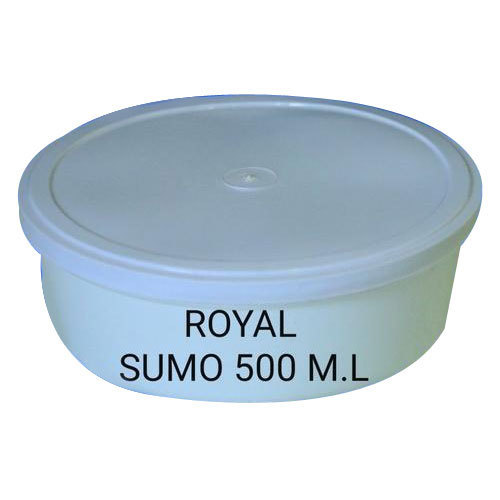 White Sumo 500ml Polypropylene Round Container, Packaging Type: Box, for Food Storage