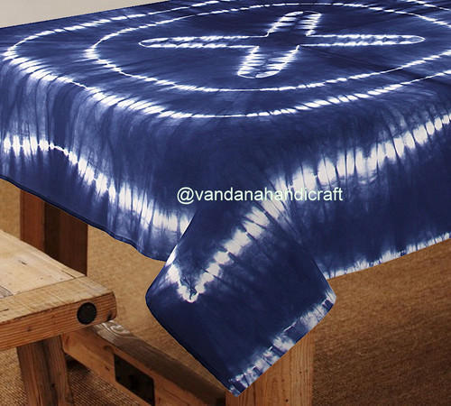 IndiaMART & Cotton Fabric Table Cloth Shibori Print Tie Dye