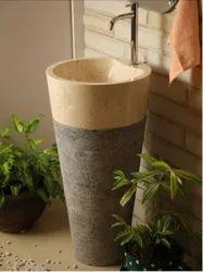 Ermor Pedestal Designer Wash Basin