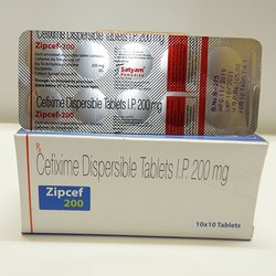 Zipcef 200 Cefixime Dispersible Tablets