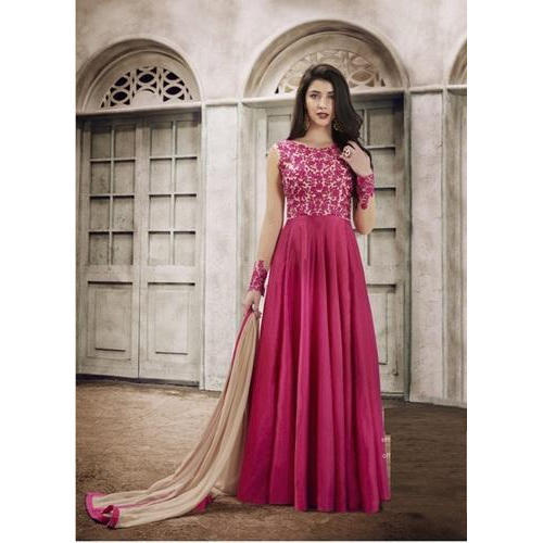 580fe638e1d Sleeveless Semi-Stitched Anarkali Suit