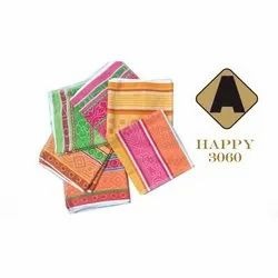 Cotton Floral Happy Hand Towel, Size: 30x60 Inch, Weight: 300 Grams