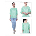 Rayon Light Green Top