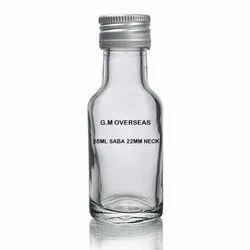 Clear Transparent Kesar 28ml Essence Saba Glass Bottle, Pack Type: Corrugated Box, Pack Size: Bulk