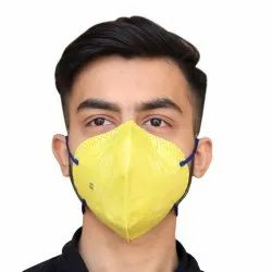 Non-Woven Yellow Anti Pollution Face Mask, For Pharma Industry