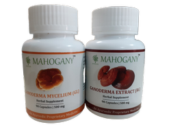 Mahogany Organics Genoderma Capsules (RG And GL), Pack Size: 90 Capsules Per Bottle